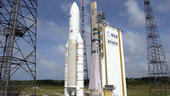 Ariane 5 with Envisat on the launch pad