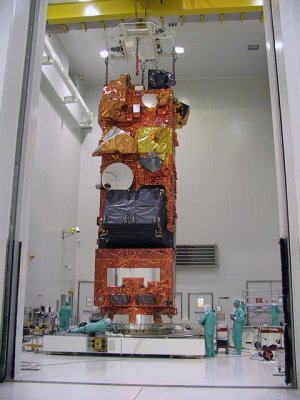 Envisat on the payload adaptor