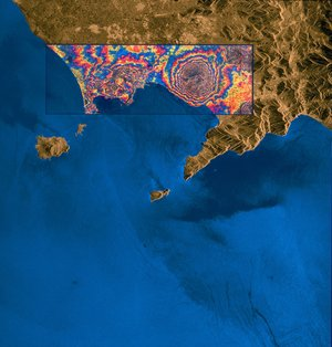 ERS-1 result - ITALY - Bay of Naples/Vesuvius (Interferogram)