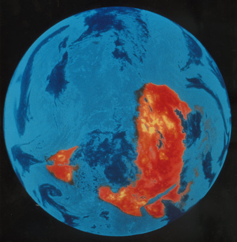 Picture of Earth taken by Meteosat in infrared channel