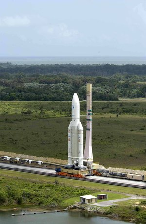 Roll-out of Ariane 5 with Envisat