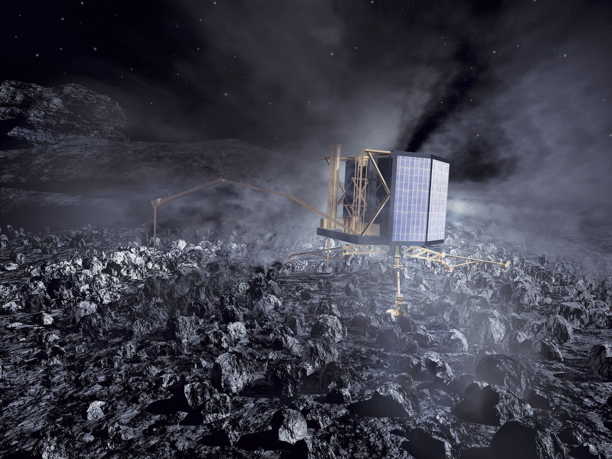 Space in Images - 2002 - 02 - Rosetta's Philae lander on ...