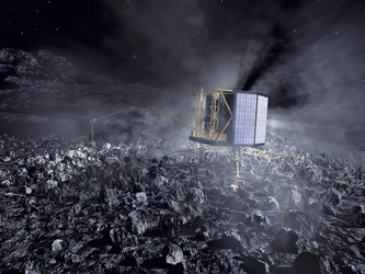 Rosetta's Philae lander on comet nucleus