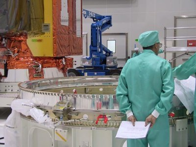 The payload adaptor in front of Envisat