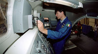 Paolo Nespoli training on the Canadarm