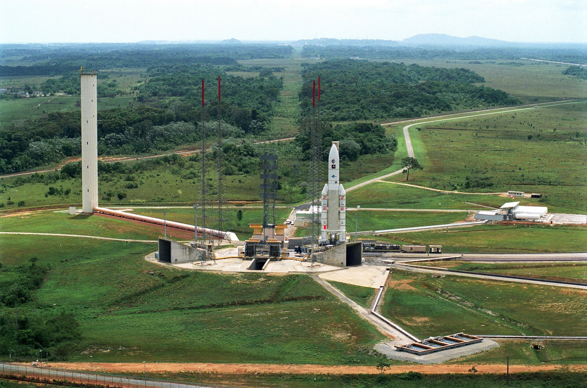 Ariane 5 launch pad at Kourou