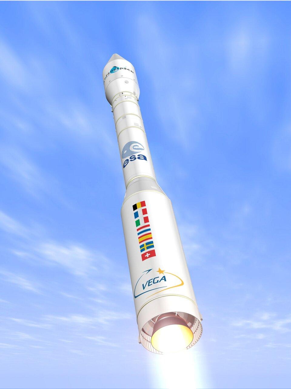 Agenda 2025 ESA Concept artistico del lanciatore Vega Credit: ESA