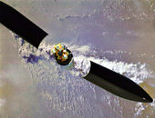 Artistic view of Envisat soars into orbit