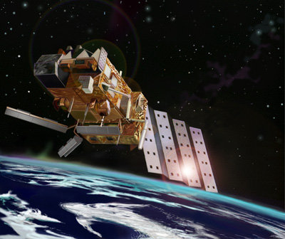 ASCAT's three pairs of antennas dominate the MetOp Payload Modul