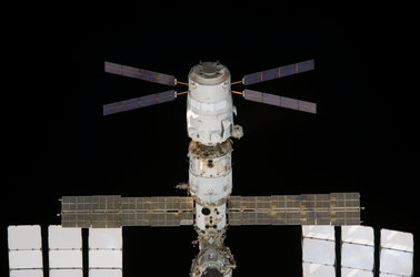 ATV Jules Verne docked to the ISS