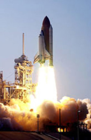 Space Shuttle Columbia lifts off on Mar. 1, 2002