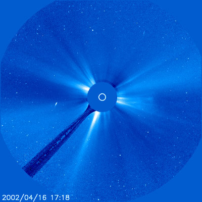 Animation of past images of Comet SOHO-422