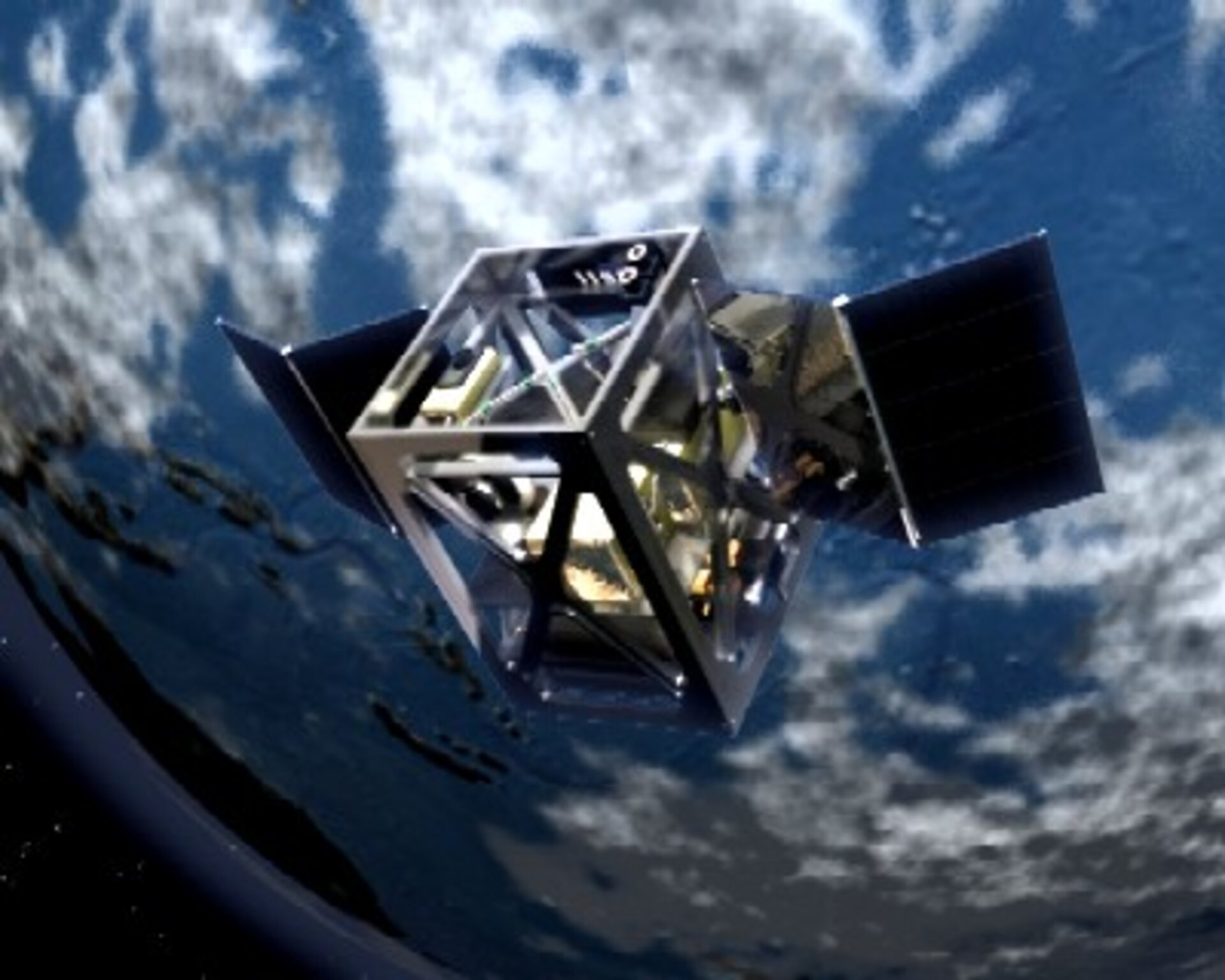 Artist's impression of the satellite imagined by SSETI students