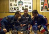 Press conference and presentation of the crew at Baikonour