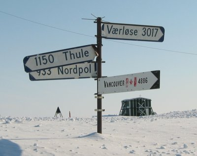 Danish military airbase 'Station Nord' in Greenland