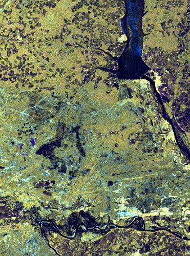 Dzerzhinsk, Russia, and the Volga River and  - ASAR - 8 April 2002