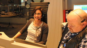 MSG-4 team readies for launch: the mission control team seen in simulation training for liftoff in ESOC's Main Control Room on 29 June 2015. Left: Maite Arza, right: John Reynolds