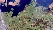 Northern Germany/Southern Denmark - MERIS, 22 April 2002