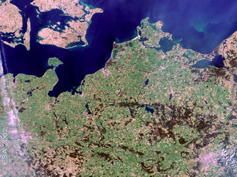 Northern Germany and Southern Denmark - MERIS - 22 April 2002