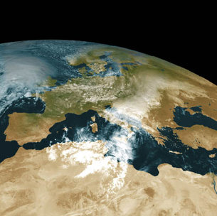 Europe viewed by Meteosat