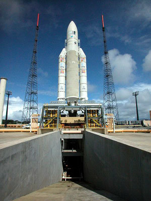 Ariane 5 on the launch pad