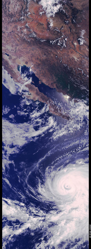 Hurricane Elida, off the coast of Mexico, 25 July 2002