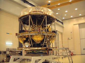 MSG-1 is a 3.7 m-high, cylindrically-shaped satellite, designed for weather observation