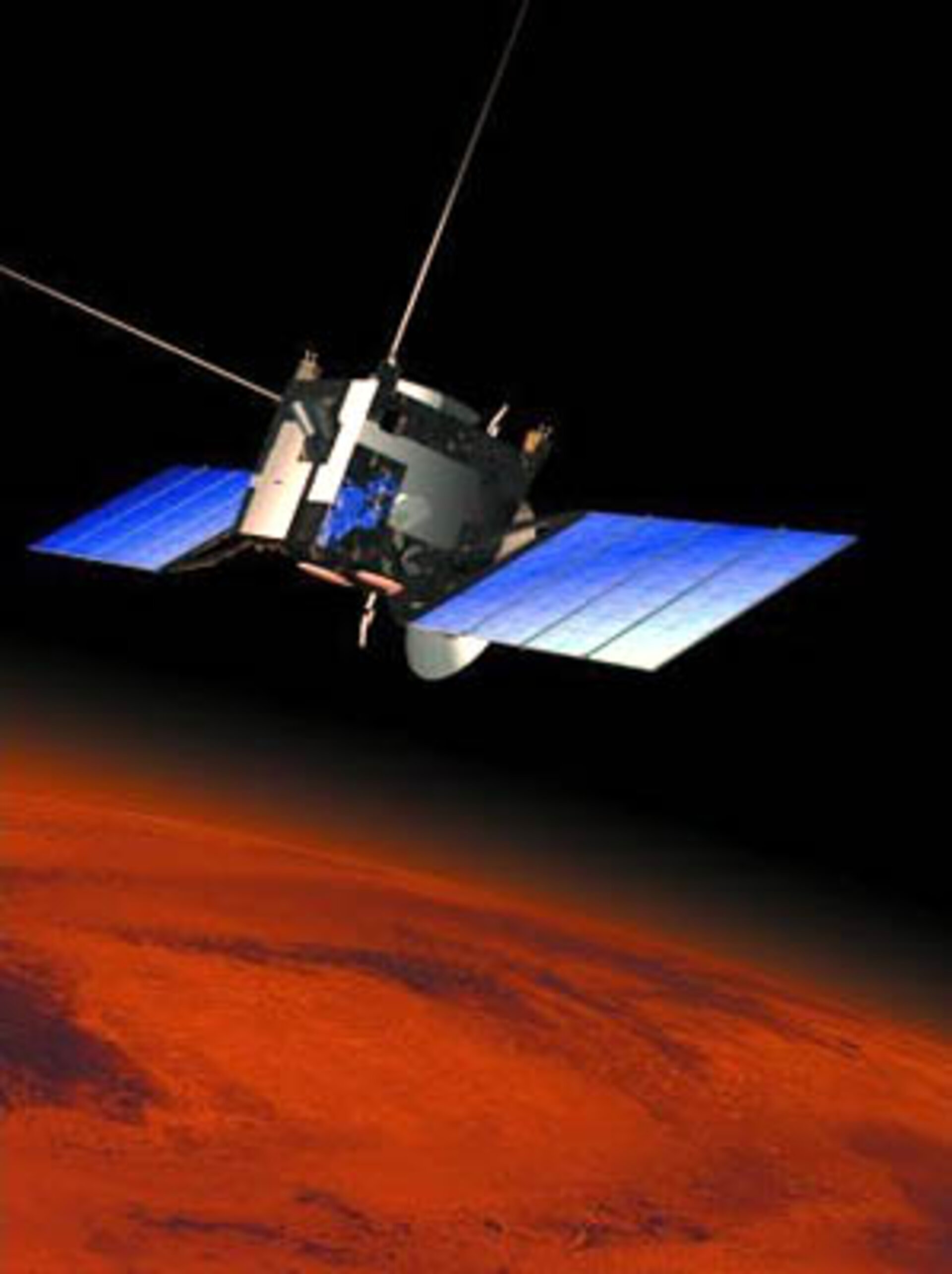 The Mars Express spacecraft in orbit around Mars