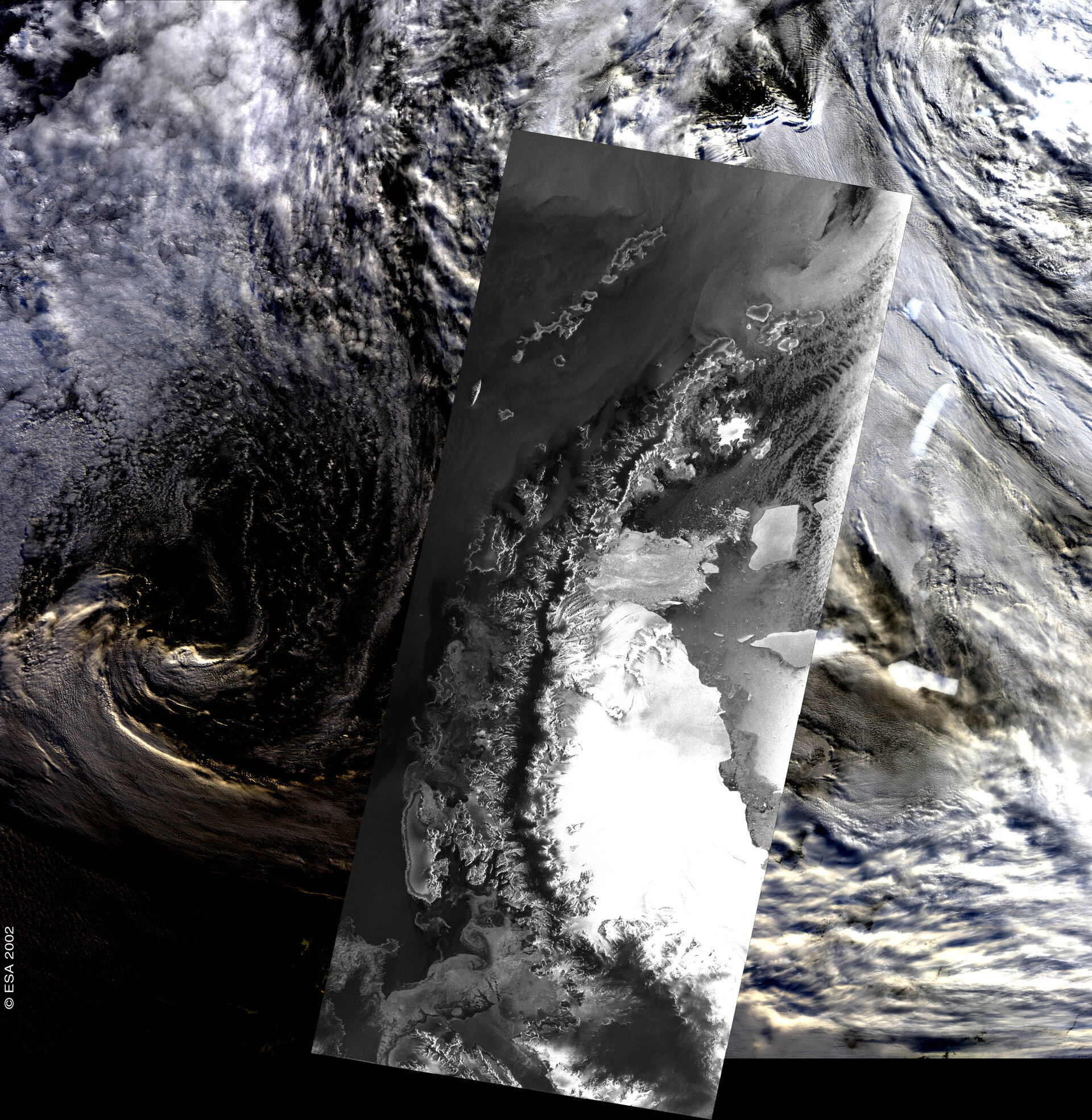 Antarctic Peninsula - ASAR/MERIS -  18/23 March 2002