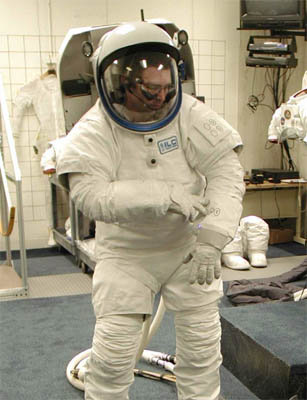 Astronaut suit with QTC switches