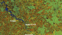Envisat image of Elbe valley on 19 August 2002