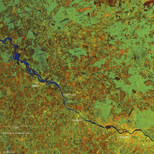 Elbe River valley - ASAR - 19 August 2002