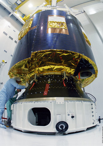 MSG-1 is installed on its payload adapter, the ACU 1666 IN S5B building