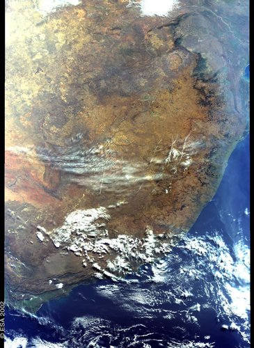 South Africa - MERIS -  6 July 2002