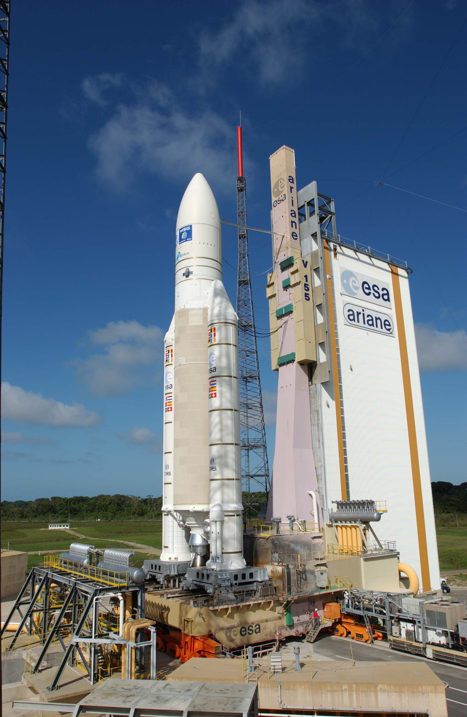 The European launcher Ariane 5 on its launch pad on ZL3