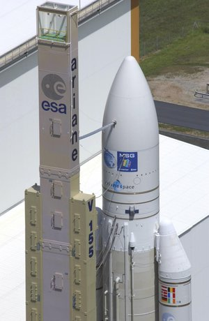 Transfer of the European launcher Ariane 5