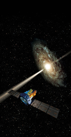 An artist's impression of the Integral spacecraft