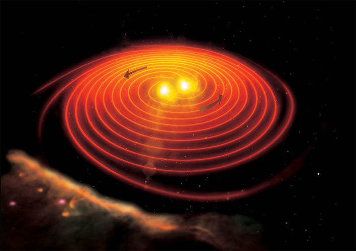 Merging neutron stars are probably responsible for some gamma-ray bursts