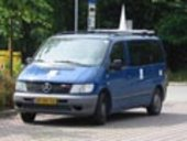 Van with antenna to measure interference sources for Galileo