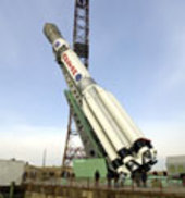 the Proton launcher rollout of the 92-1 building