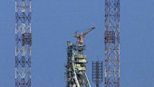 Proton on the launch pads at Baikonur