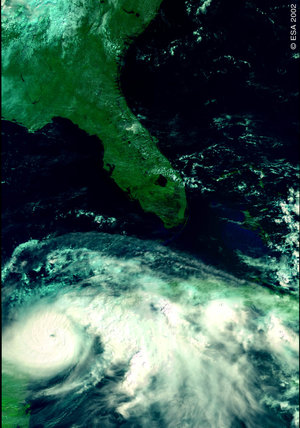 Hurricane Isidore – MERIS - 21 September 2002