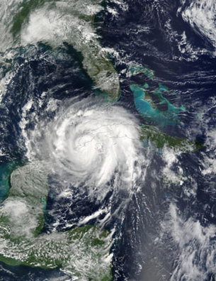 Hurricane Lili on 2 October, 2002