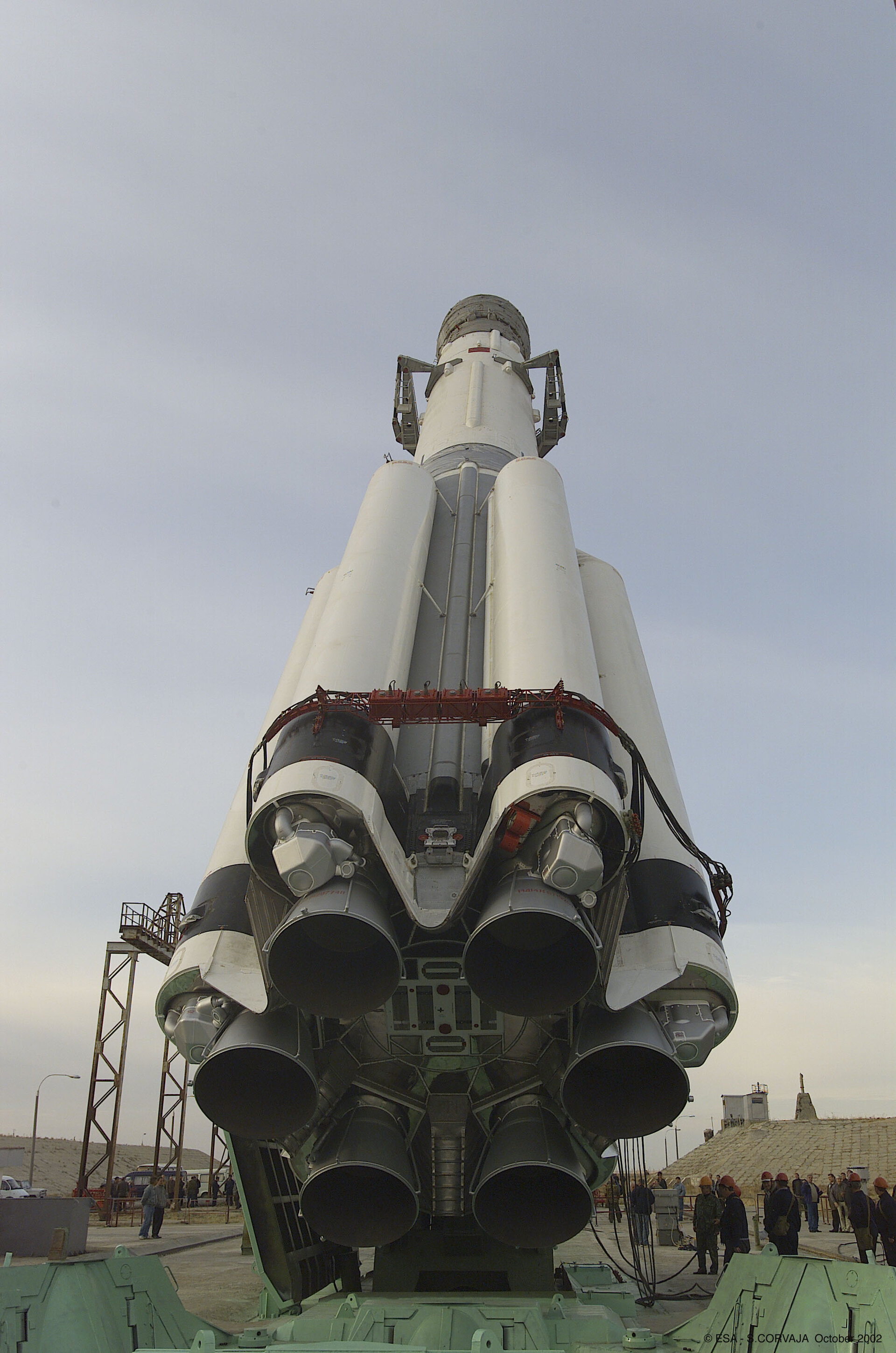 Proton being moving into the vertical position
