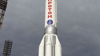 Proton rocket on the launch pad