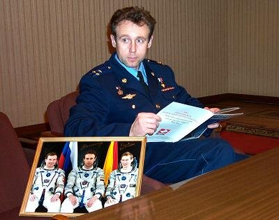 Sergei Zaletin, Commander for the taxi flight