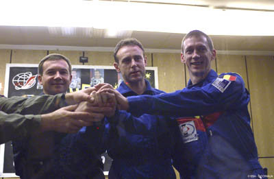 The Odissea mission crew during the Press Conference