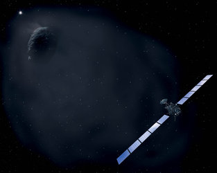 Deep-space hibernation before comet rendezvous
