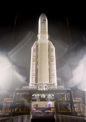 Flight 157 - Ariane 5 on the launch pad, 28th November 2002