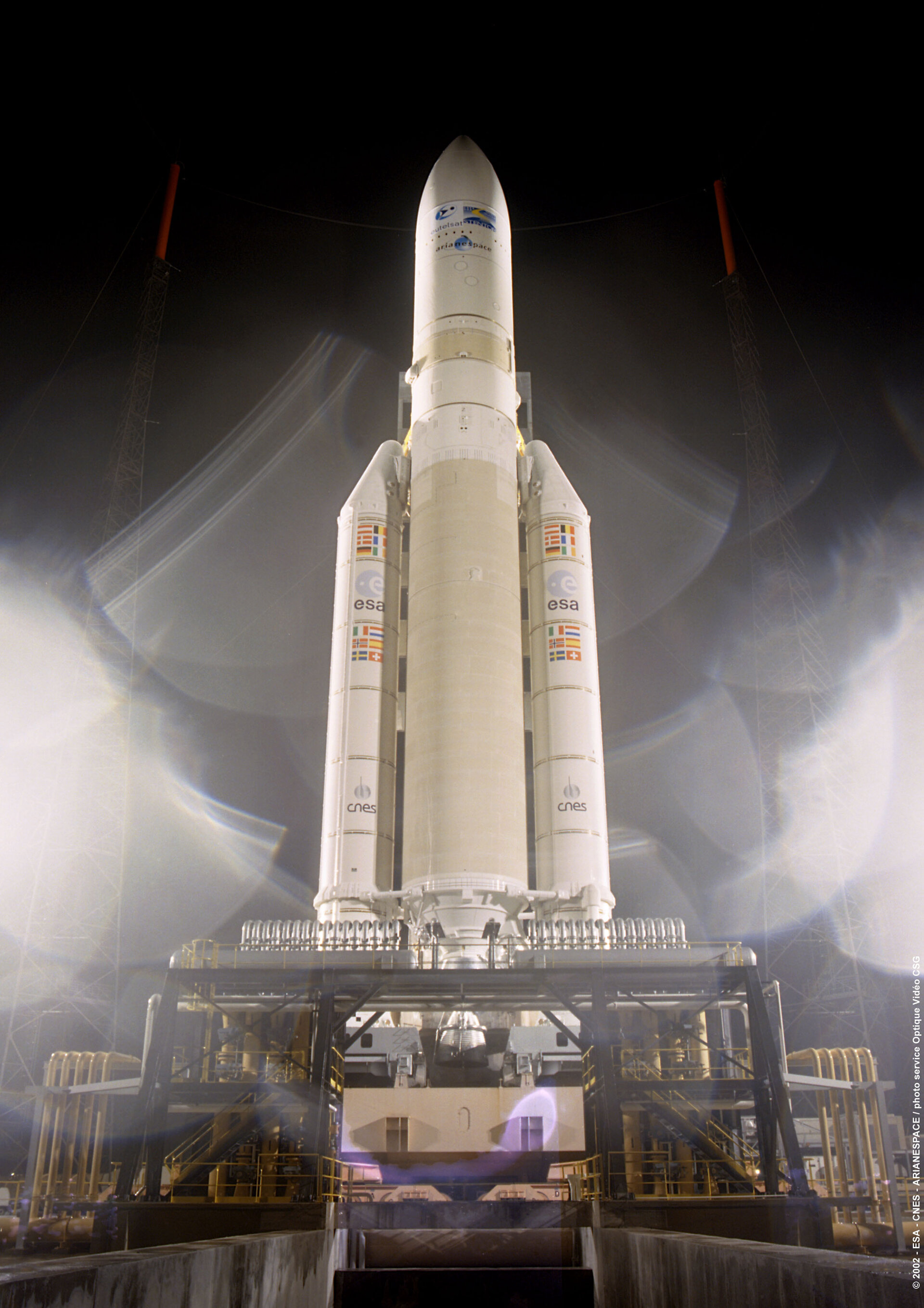 Flight 157 Ariane 5 ECA on the launch pad